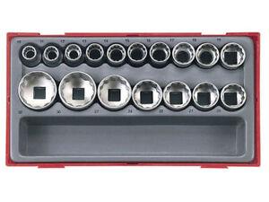 Teng-Tools-TT1217-17-Pce-1-2-Drive-Socket-Set-12-Point-Bi-Hex-Double-Cut-CASE