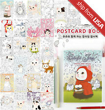 Colorful Jetoy Choo Cat Postcards Coloring Book Adult Art Therapy Gift Cute