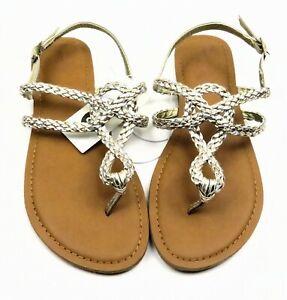 Women-039-s-Jana-Braided-Thong-Ankle-Strap-Sandal-Universal-Thread-Gold-size-8-5