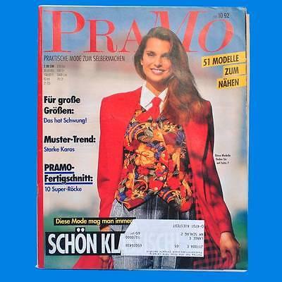 Pramo 10/1992 Praktische Mode Schnittmuster | Karos Super-röcke Kindermode