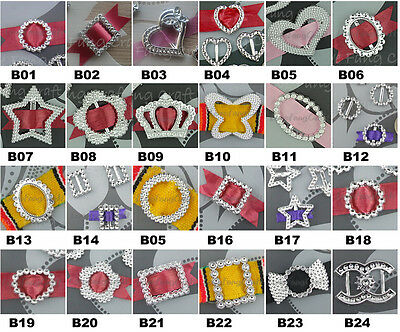 50 Acrylic Buckle Ribbon Slider Craft Scrapbook Wedding Invitation Card U-Pick