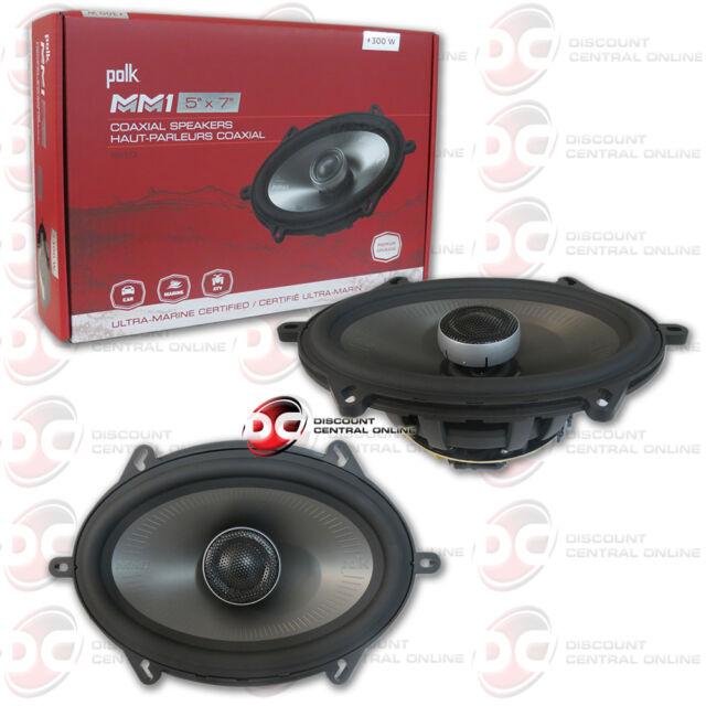 "POLK AUDIO MM 5"" x 7""  2-WAY CAR AUDIO BOAT ULTRA MARINE COAXIAL SPEAKERS 5x7"""
