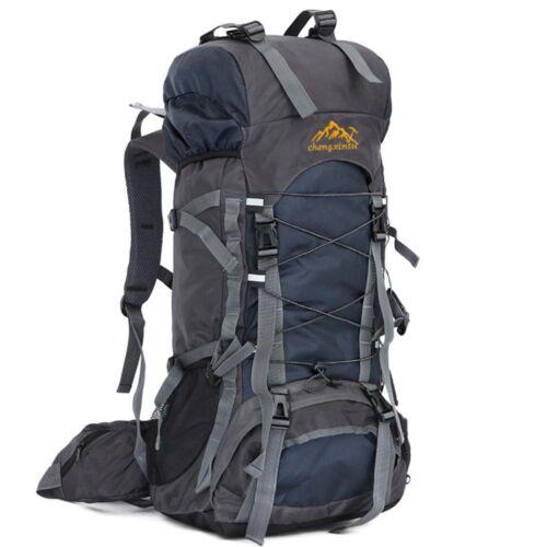 55L Outdoor Hiking Trekking Bag Camping Travel Climbing Knapsack Pack D1W9