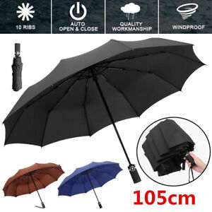 Fj-Ombrello-Automatico-Anti-UV-Sole-Pioggia-Antivento-Pieghevole-Compatto-Fadd