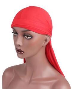 Elegant-Spandex-Cover-King-039-s-Durag-Biker-Head-Wrap-Skull-Cap-Wrap-Hat-Fashion