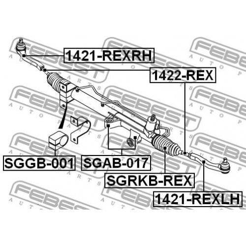 FEBEST Bellow steering SGRKB-REX