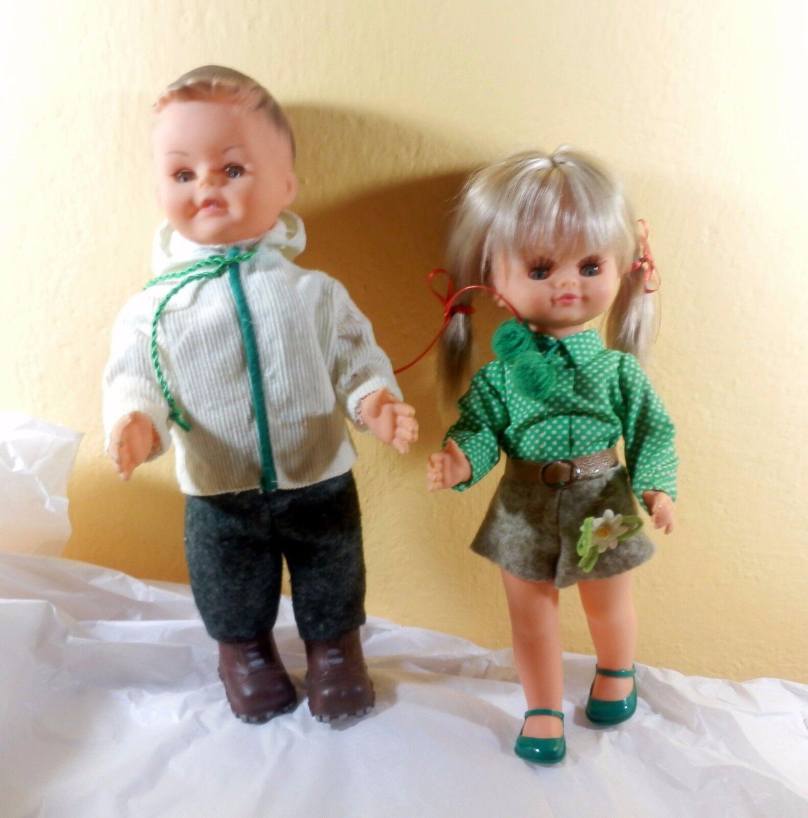 Coppia Alpini Sebino doll poupee puppen Muneca Vintage antico anni '60