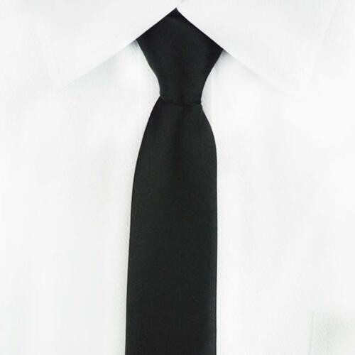 1PC Men/'s Zipper Necktie Solid Casual Business Wedding Slim Zip Up Neck Tie