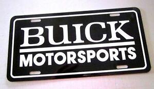 Buick Motorsports license plate car tag 1965 1966 1967 1968 1969 1970 1971 1972