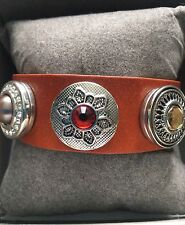 New High Quality Ladies Leather Bracelet with 3 Chunks by Bianca Cavatti