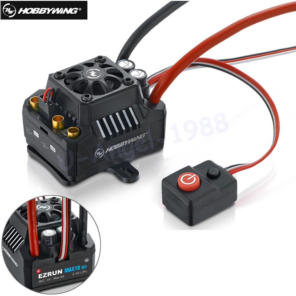 Hobbywing EZRUN Max10 120A Esc Impermeable Brushless ESC 1 10 SCT RC Hobby Camión