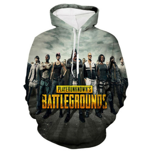 PUBG Hoodies Mens 3D Printed Sweater Lovers Casual Sweatshirts Fashion Top New
