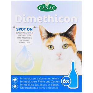 Anti-puces et tiques pour Chat - 6 pipettes - Non toxique pour l'animal