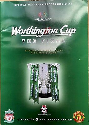 Liverpool vs Manchester United Worthington Cup Final 2003 ...
