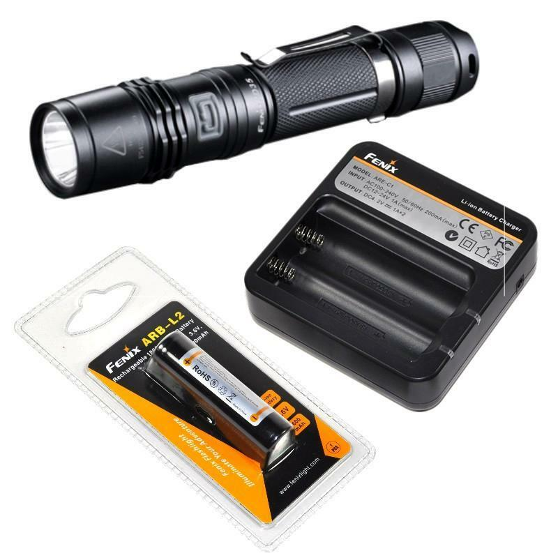 New Fenix PD35 850 Lumen LED Flashlight Fenix ARE-C1  Charger and 18650 Battery  shop now