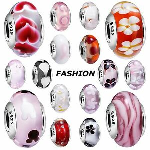 Fashion-Design-Glass-Bead-Silver-Charms-Jewelry-For-925-Sterling-Bracelets-Chain