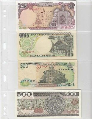 2 pockets Pack of 5 Clear Sheets GRANDE 2C for Certified Banknotes