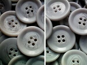 Z173 Large 23mm 36L Polished Beige Swirl Patterned 2 Hole Quality Buttons