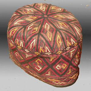 Antique Tekke Turkmen Embroidered Hat Free Shipping Ebay