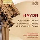 Sinfonien 7 & 83/Violinkonzert Hob VIIa:1 von H. Christophers,Handel & Haydn Society (2016)