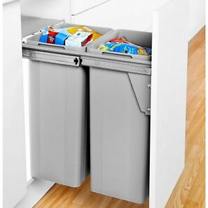 Attractive Image Is Loading Large Pull Out Kitchen Waste Bin 64 Litres