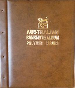 AUSTRALIAN-DECIMAL-1988-2017-POLYMER-BANKNOTE-Illustrated-ALBUM-BROWN-Colour