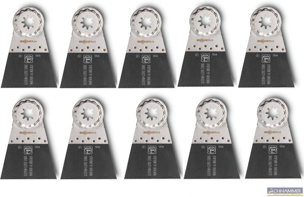 10x FEIN E-Cut Long-Life-Sägeblatt BI-Metall SL 50x65 MM 63502161240