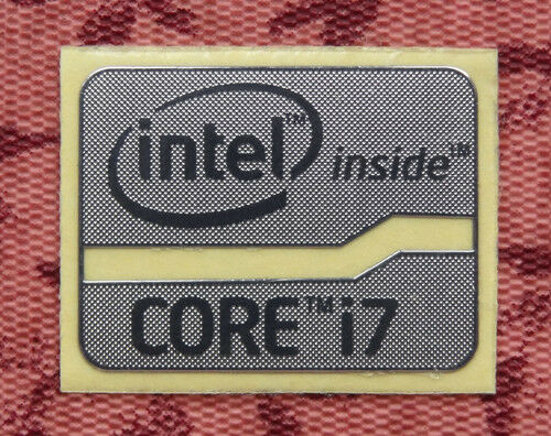 Lot of 10 Intel Core i7 Inside Silver Chrome Stickers 16 x 21mm Sandy//Ivy Bridge