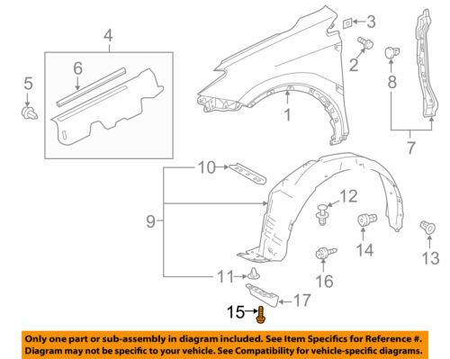 TOYOTA OEM 13-16 RAV4-Fender Liner Splash Shield Screw 9015960620