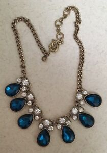 J-crew-Blue-Teardrop-and-white-Necklace-Beautiful