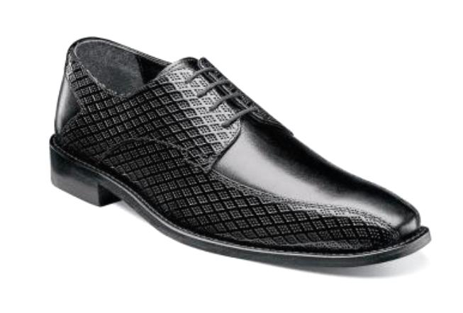 fino al 60% di sconto Stacy Adams Uomo Gianluca Bike Toe Oxford nero Leather Leather Leather Dress scarpe 25174-001  vendita con alto sconto