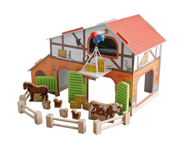 großer Roba 9643 Bauernhof Farm  steckbar aus Holz mit Zubehör - NEU