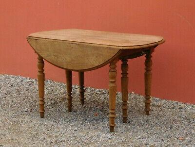 Tavolo Tavolino Allungabile Ovale A Bandelle Rovere Fine 800 Ebay