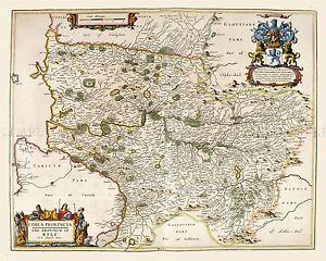 MAP-ANTIQUE-1654-SCOTLAND-BLAEU-KYLE-AYRSHIRE-LARGE-REPLICA-POSTER-PRINT-PAM0132
