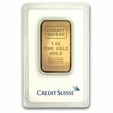 1 Oz Credit Suisse Gold Bar 9999 Fine With Ay Cert