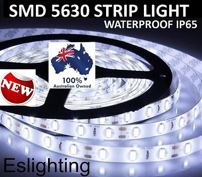 5M 5630 FLEXIBLE 12V DIMMABLE WATERPROOF LED STRIP LIGHT COOL WHITE + DIMMER
