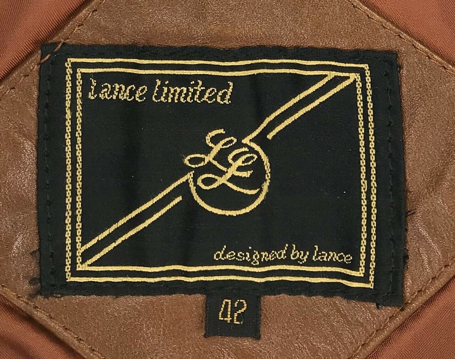 Mens 42 Vintage Lance Limited Classic 1970s Brown… - image 4