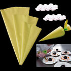 Yellow Silicone Reusable Icing Piping Cream Pastry Bags Cake Decorating Tools cn