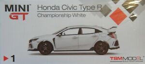 TSM-MINI-GT-1-64-Honda-Civic-Type-R-FK8-Championship-White-RHD-DIECAST-CAR-MODEL