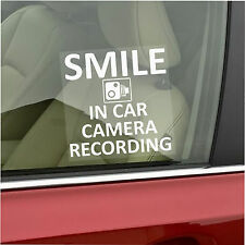 In Car Camera Recording Sticker-Smile CCTV Sign-Van,Lorry,Truck,Taxi,Bus,Cab-Sml