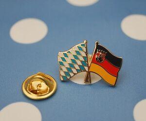 Freundschaftspin-Bayern-Rheinland-Pfalz-Pin-Button-Sticker-Anstecker-Flaggenpin