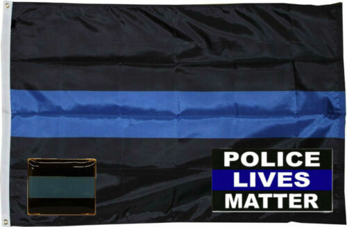 Wholesale 3x5 Police Thin Blue Line Flag Decal Sticker Lapel Pin Set 4