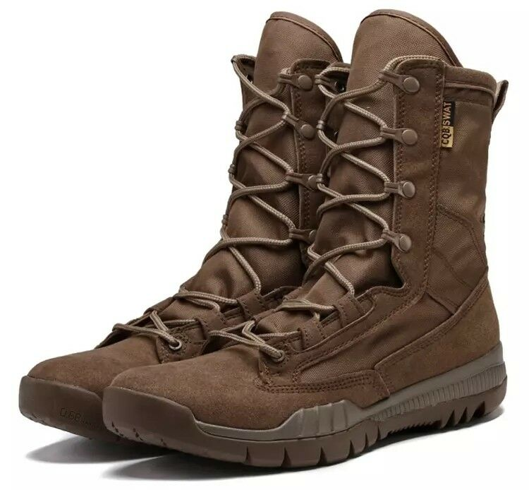 Men Tactical Combat Hiking Comfortable Breathable shoes Outdoor Mid Calf Boots