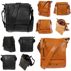 Echt-Leder-Herren-Damen-Umhaengetasche-Tasche-RFID-Schutz-Schultertasche-Umhaenger