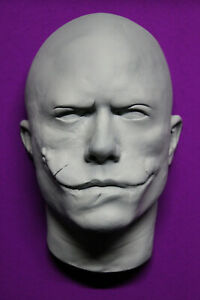 Details About Heath Ledger 1 1 Life Mask Joker Un Painted With Eyes Open