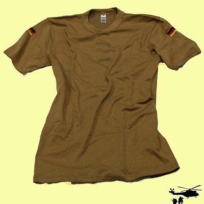 Origi. Bundeswehr Unterhemd Tropen T-shirt Kurzarm Khaki Mit Hoheitsabzeichen