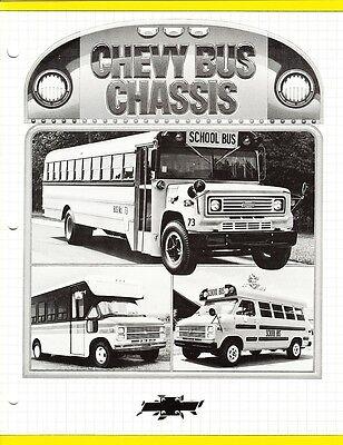 1985 Chevrolet Full Line P30 G30 B60 School Bus Chassis Sales Brochure NOS
