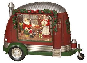 Old-Camper-RV-Shaped-Christmas-Winter-Scene-Spinning-Water-Snow-Globe-Lantern