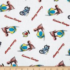 Curious George Cotton Fabric Spring Children Beach Balls Monkey   BFab