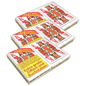 3-Packungen-Senioren-Skat-2x-32-Spielkarten-Skatblatt-Skatkarten-Skatspiel